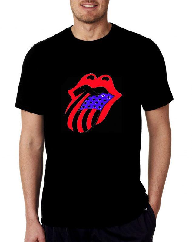 Roling stone logo unisex t shirt cheap custom for Make your own t shirt online cheap